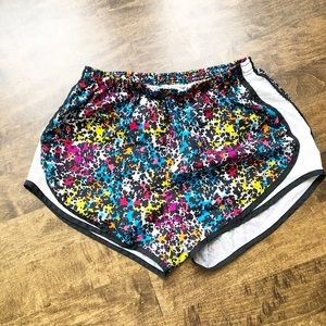 Nike Dry-Fit Running Shorts Paint Splash Size M